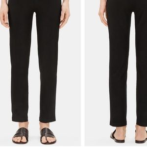 Eileen Fisher Black Linen Cropped Pant (XS)